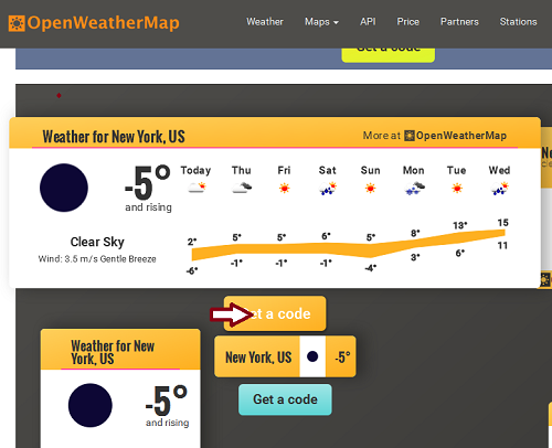 One of the most popular cases for weather API's usage is the