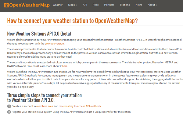 Weather Stations API 3.0